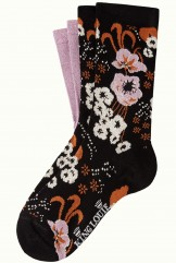 Socken 2er-Pack, 06550-001, black-lilac