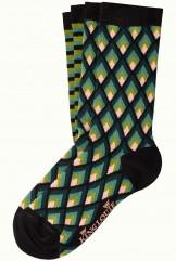 Socken 2er-Pack, 06551-001, black-green