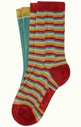 Socken 2er-Pack, 06552-651, red-green