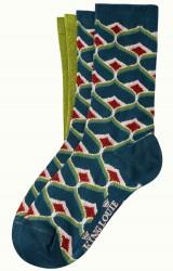 Socken 2er-Pack, 06554-300, green-multi