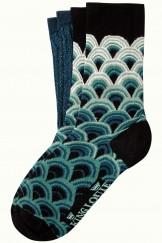 Socken 2er-Pack, 06555-300, green-blue