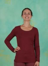 T-Shirt, Basic Cotton Stretch, oxblood-red