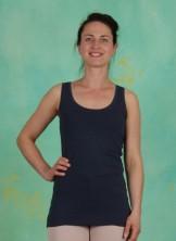 Top, Basic Cotton Stretch, dress-blues