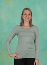 T-Shirt, Basic Lace, green-milieu