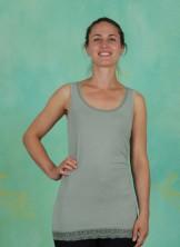 Top, Basic Lace, green-milieu
