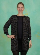 Cardigan, Winter Pattern, art-black