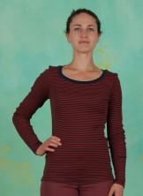 T-Shirt, Basic Striped Rib, art-red