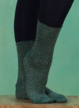 Strümpfe, Lurex Dot Sock, dark-forest