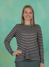 T-Shirt, Striped Linen Jersey, art-blue