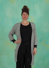 Cardigan, Mercerzed Cotton, mineral-gray