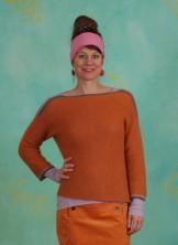 Pullover, Mohair Knit, tomato-cream