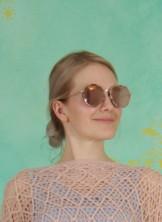Sonnenbrille, Tabia, gold