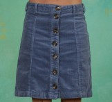Rock, Corduroy Skirt, infinity-blue
