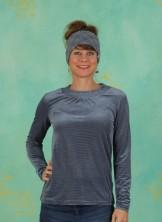 Shirt, Velvet Longsleeve, infinity-blue