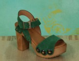 Schuhe, Carmen, suede-hellgrün