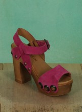 Schuhe, Carmen, suede-pink