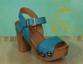 Schuhe, Carmen, roma-türkis