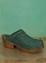 Schuhe, Greta, punkt-grün