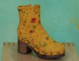 Schuhe, 1208-109, flower-F20-gelb
