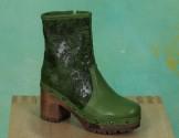 Schuhe, 1208-143, roma-print-grün