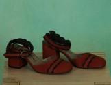 Schuhe, Trip, brick-black