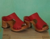 Schuhe, Rhia, mousse-scarlet