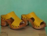 Schuhe, Rhia, mousse-lemon