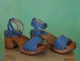 Schuhe, Romy, mousse-smurf-blue