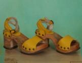 Schuhe, Romy, mousse-lemon