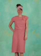 Kleid, Oblique, orange-lila