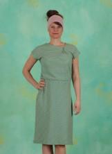 Kleid, Oblique, green-roze