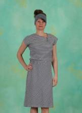 Kleid, Oblique, navy-white