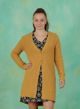 Cardigan, Deeper, mustard-yellow