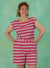 Jumpsuit, 211-11-104-306, pink-stripes