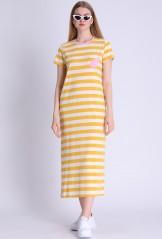 Kleid, 211-11-108-1075, yellow-stripes