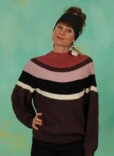 Pullover, 21W7301, brown-multi