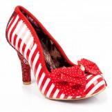Schuhe, Ascot, red-white
