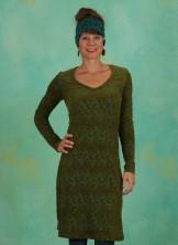 Kleid, V-Neck, spruce-mud
