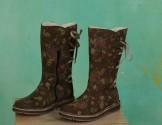 Schuhe, Nora, flower-khaki