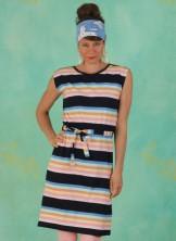 Kleid, D0480, multi-stripes