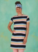 Kleid, D0481, multi-stripes