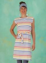Kleid, D0485, white-stripes