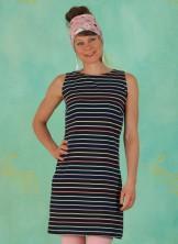 Kleid, D0498, dark-blue-stripes
