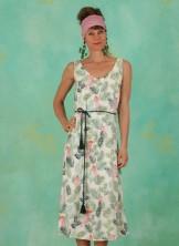 Kleid, D0592, beige-multi