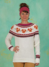 Pullover, Nuts About You Squirrel Sweater, cream-multi