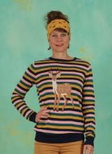 Pullover, Deer To Me Stripe Sweater, multi