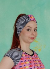 Haarband, Ringel, navy-white