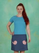 Jeansrock-Kleid, Tante Käthes Wundervogel, multi