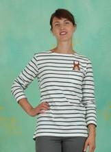 Shirt, Secret Squirrel Breton Top, off-white