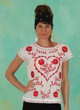 Shirt, T0481, white-red